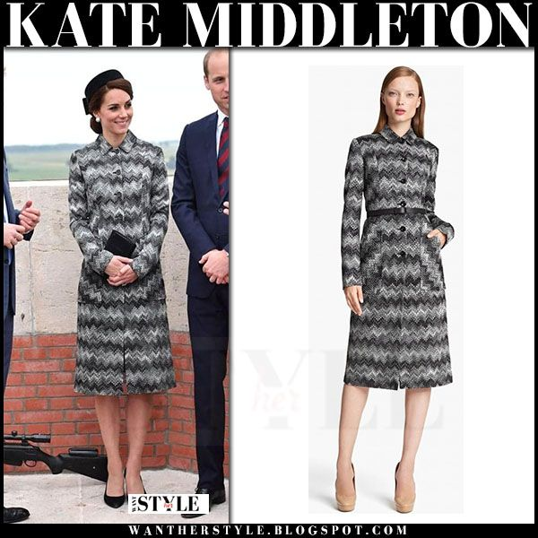 Kate Middleton in grey print Missoni coat  bbc80faa3