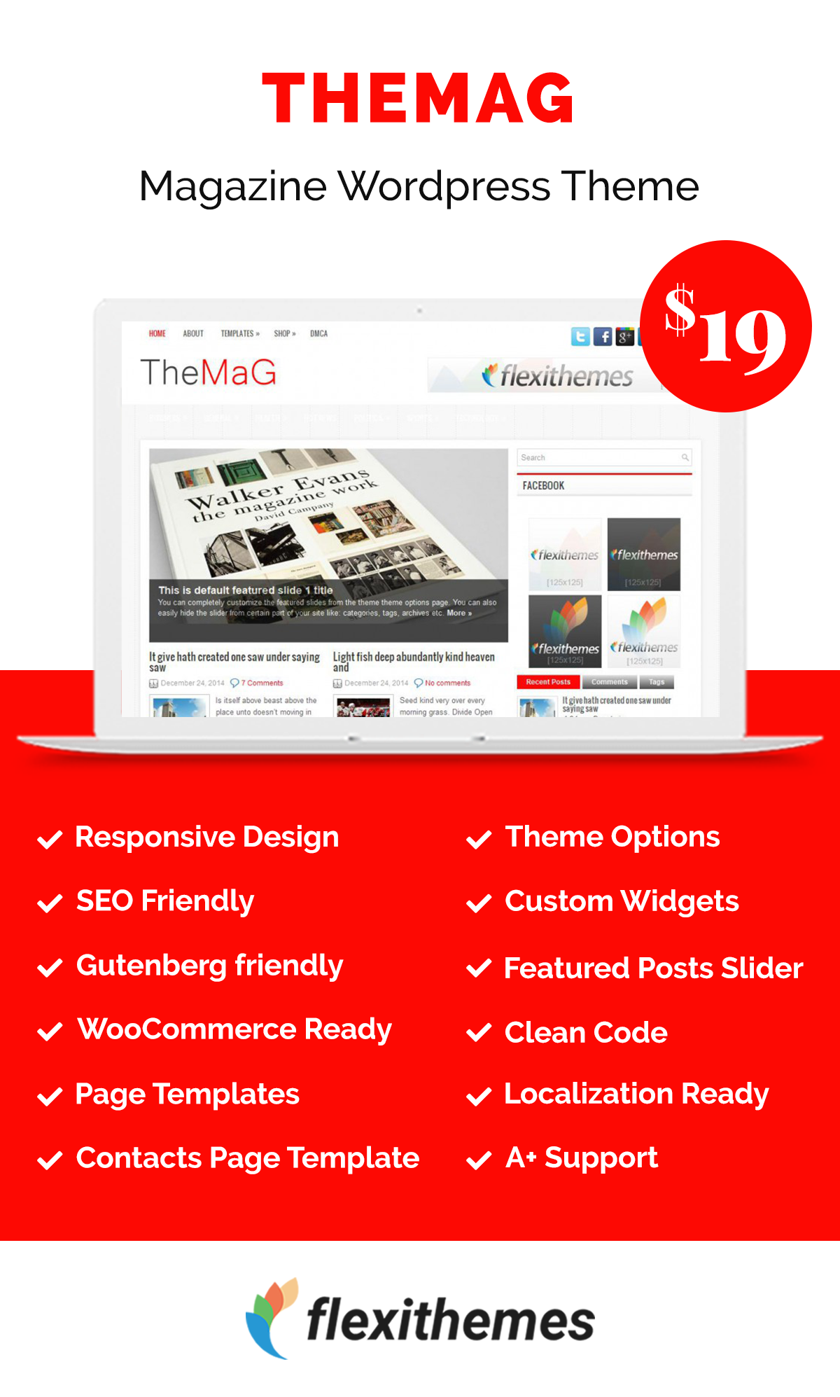 TheMag Wordpress theme, Page template, Wordpress template