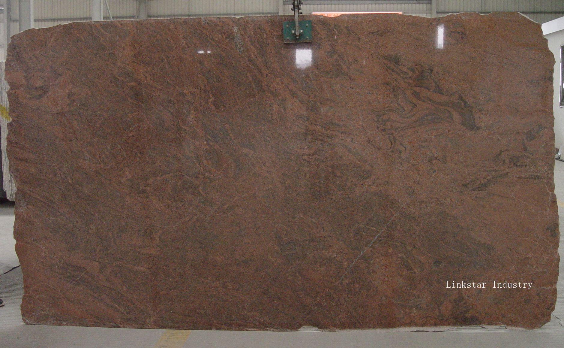 Multi Color Red Granite Slab