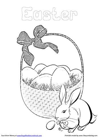 Easter Coloring Pages Printable   EASTER   Pinterest   Imprimibles ...