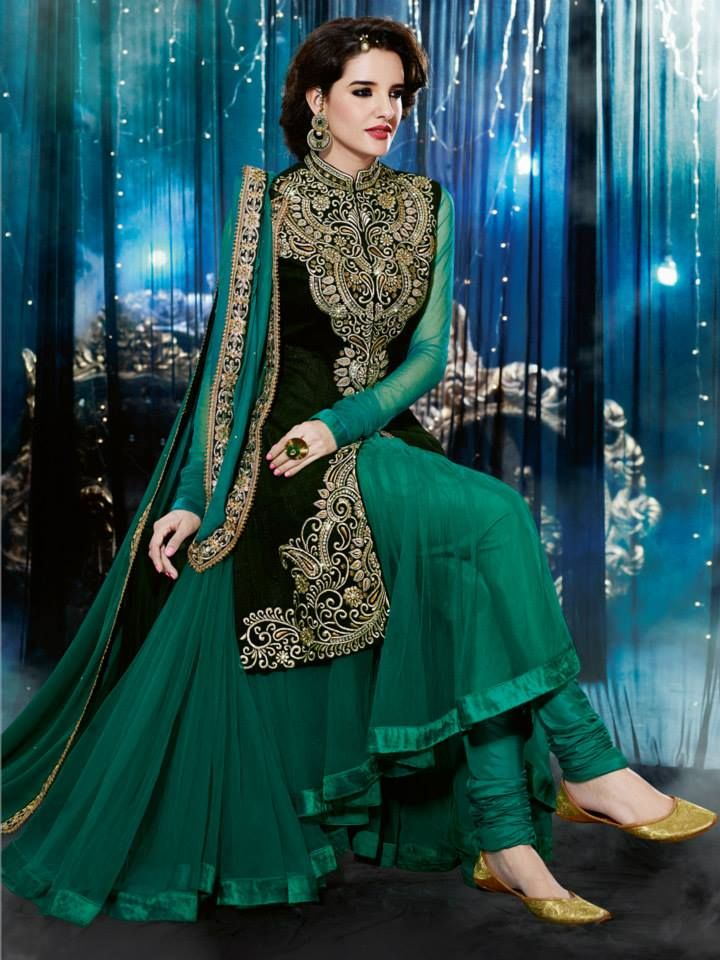 7732cff7f Anarkali Dresses With Embroidered Designs 2014 15 by Natasha Couture. SO  BADLY DO I WANT THIS