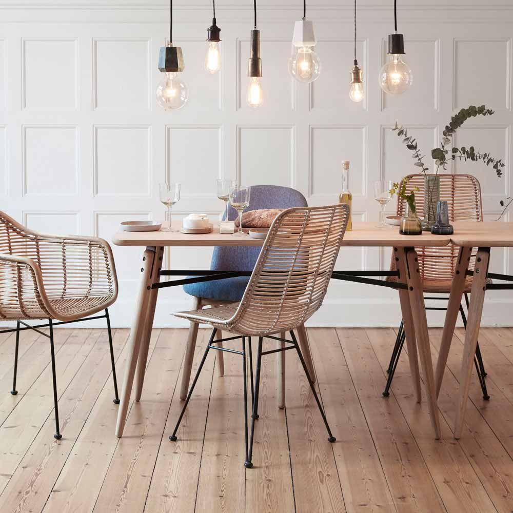 Hubsch Interior Tisch Isabelle Eiche Minimalistische Esszimmer Skandinavische Esszimmerstuhle Und Innenarchitektur Wohnzimmer