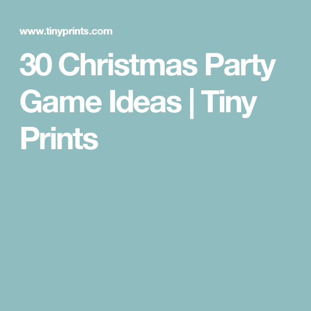 Large Group Christmas Party Ideas Part - 26: 30 Christmas Party Game Ideas | Tiny Prints Choose Large Groups And Church  Group Tabs