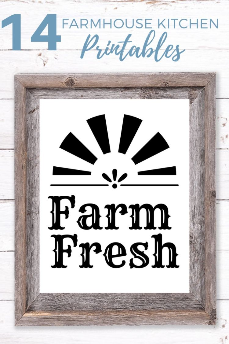 14 free farmhouse kitchen printables handmade home decor decor home decor on farmhouse kitchen quotes free printable id=25982