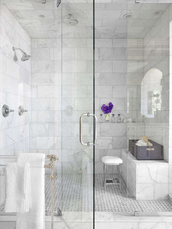 Small Bathroom Design Marble carrera marble · master bath · modern design, pictures, remodel