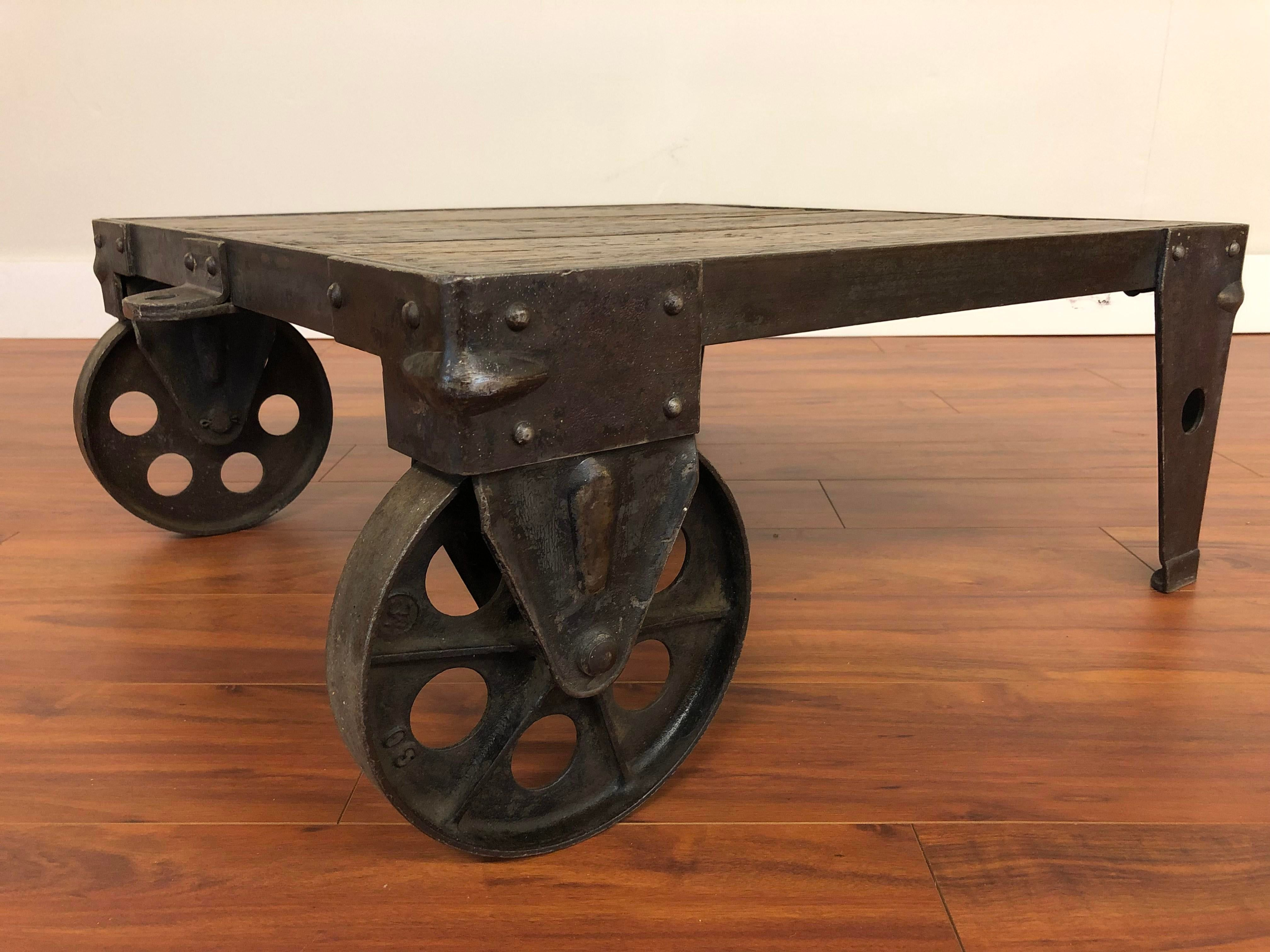 Industrial Coffee Table Cart In 2021 Metal Work Table Industrial Coffee Table Rustic Industrial Table [ 3024 x 4032 Pixel ]