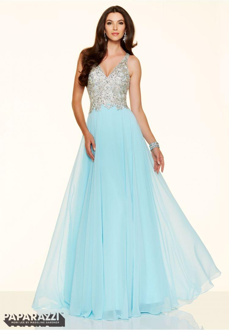 Prom dresses by Paparazzi Prom Beaded Net and Chiffon Side Zipper ...