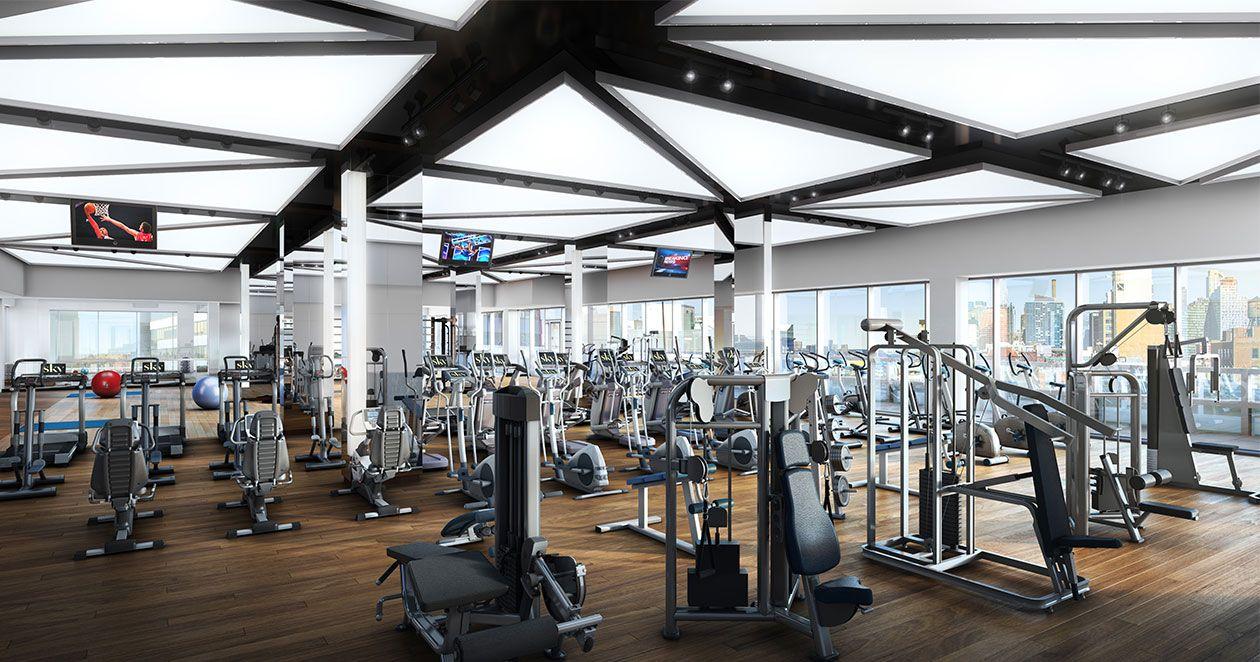 15,500-SF Lifetime Fitness Facility | Sky Building Amenities
