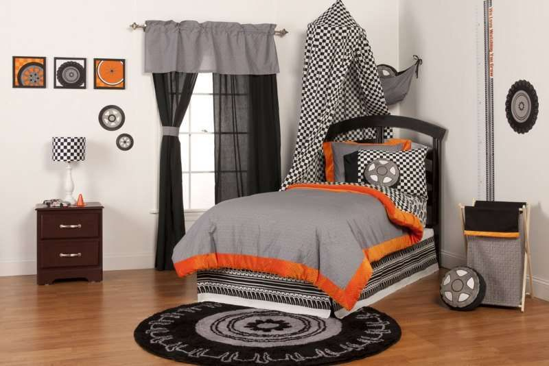 One Grace Place Teyos Tires Valance Grey