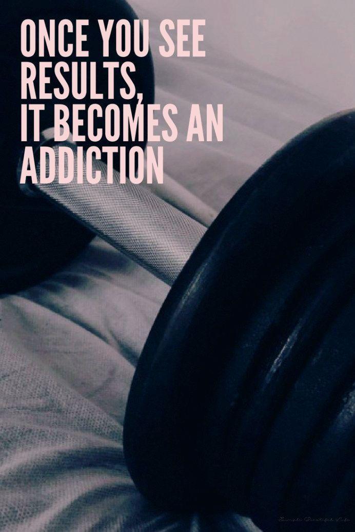 Es wird zur Sucht - Best Fitness Quotes, Motivational Workout Quotes, #Fitness #Motivational #QUOTES...