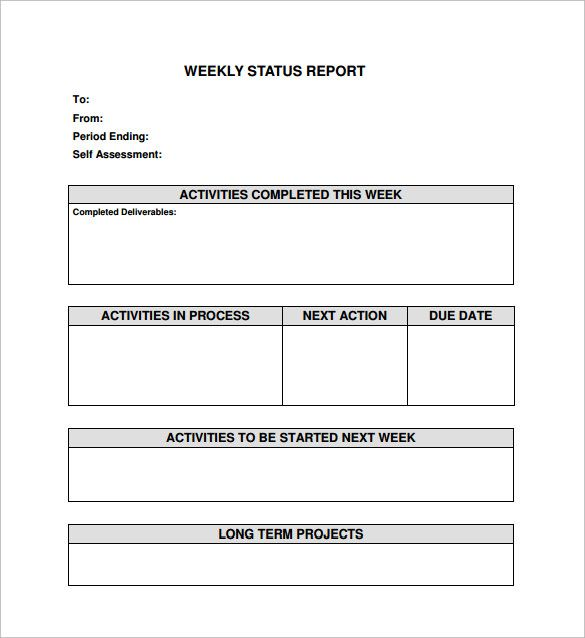 Project Status Report Templates Papele Alimentacionsegura With Project Weekly Status Report Te Project Status Report Progress Report Template Report Template