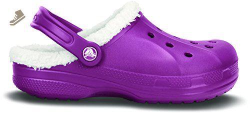 458843efdc965 Crocs Feat Fuzz - Unisex Lined Clogs - Baya st Plum Oatmeal - M9 W11 - Crocs  mules and clogs for women ( Amazon Partner-Link)