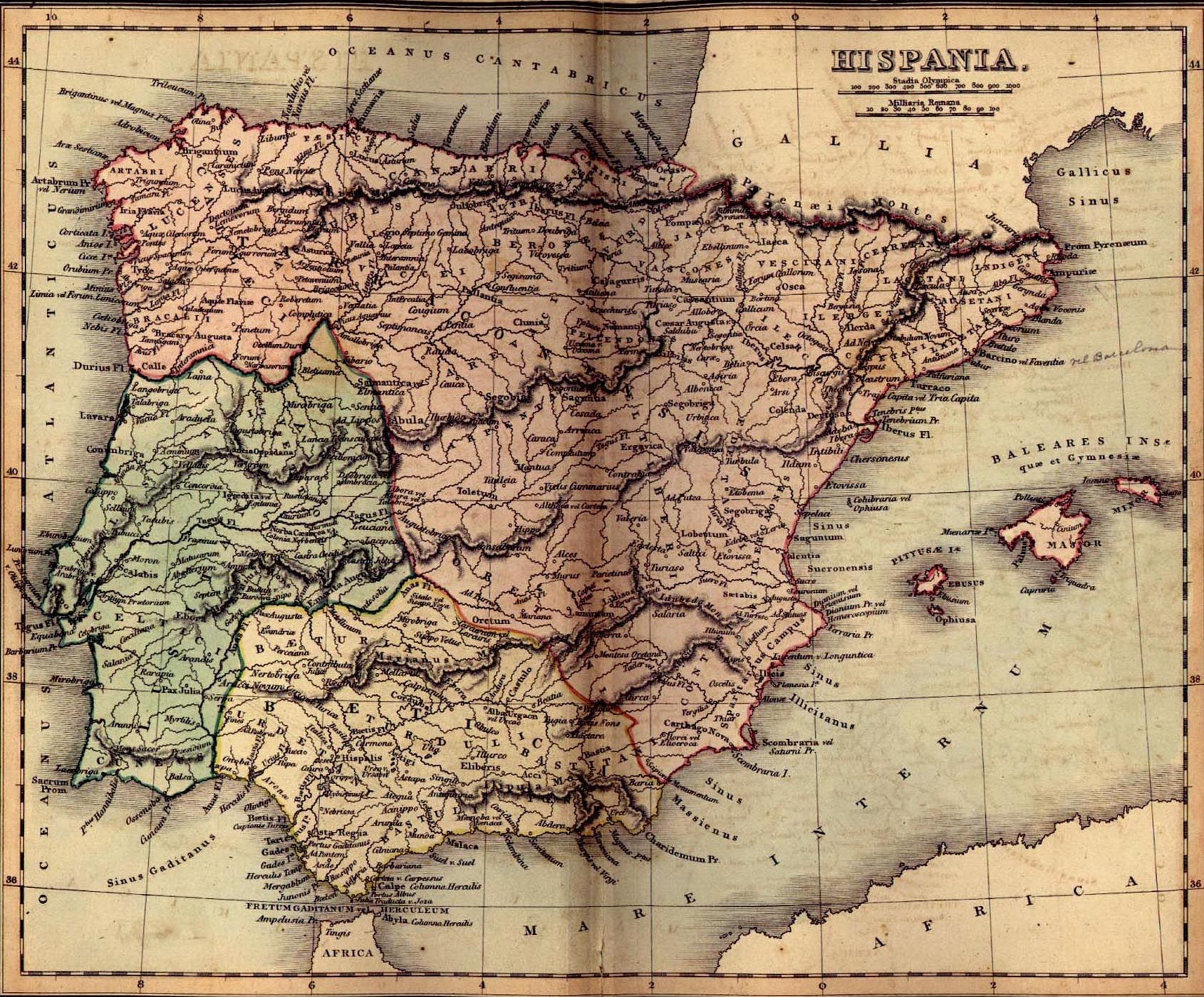 Map Of Spain Old.Map Of Ancient Spain Hispania Spain Geography Of Spain Map
