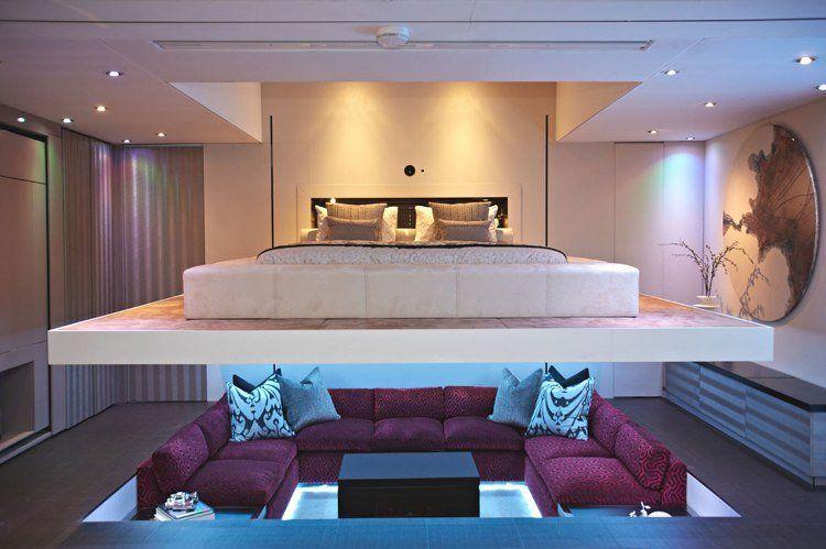 Lit escamotable plafond pour plus d`espace en 19 idées top ...