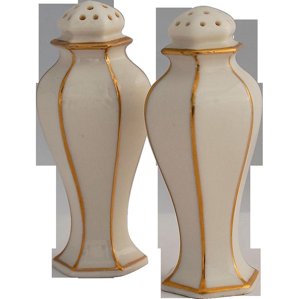 American Belleek Lenox Salt And Pepper Shakers Ca 1906 1924 From Antik Avenue On Ruby Lane Www Rubylane Com Shop Anti American Belleek Belleek Vintage Shakers