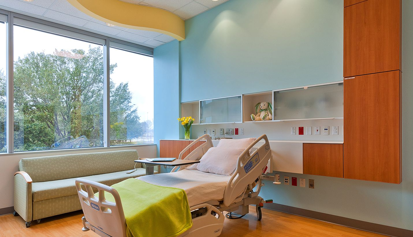 Patient room at texas childrens hospital westhouston