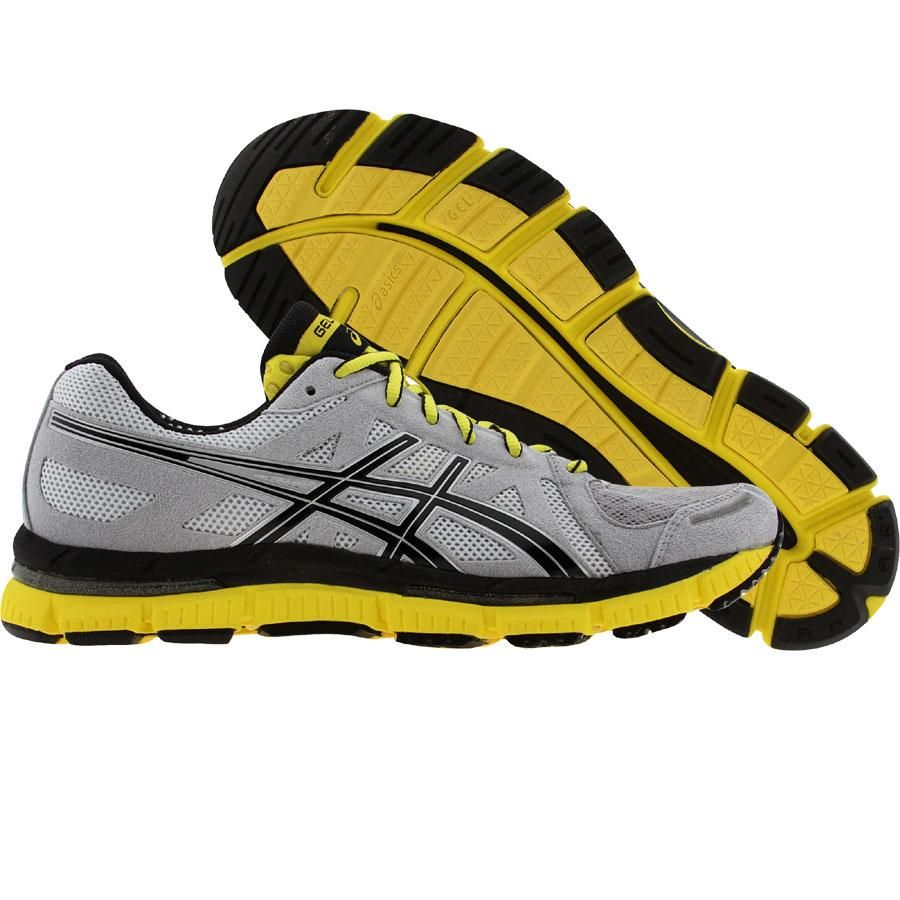Men s Asics GEL Neo33 Platinum Black Yellow Shoes