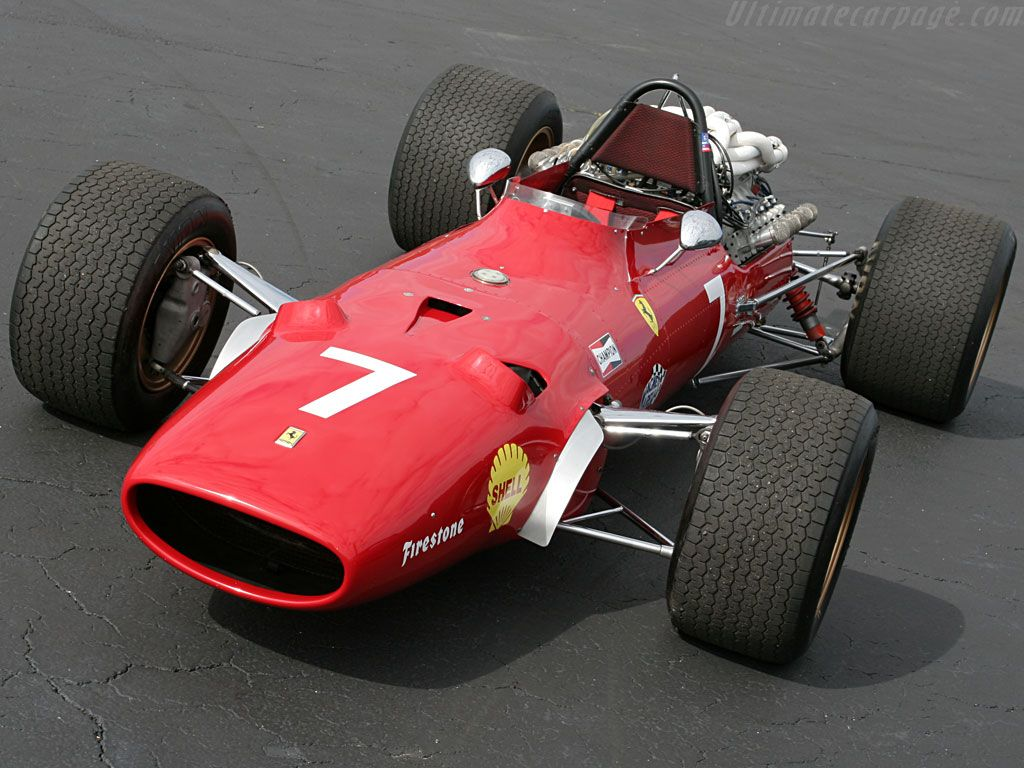Not just an old F1 car, this is the Ferrari 312 single seater ...