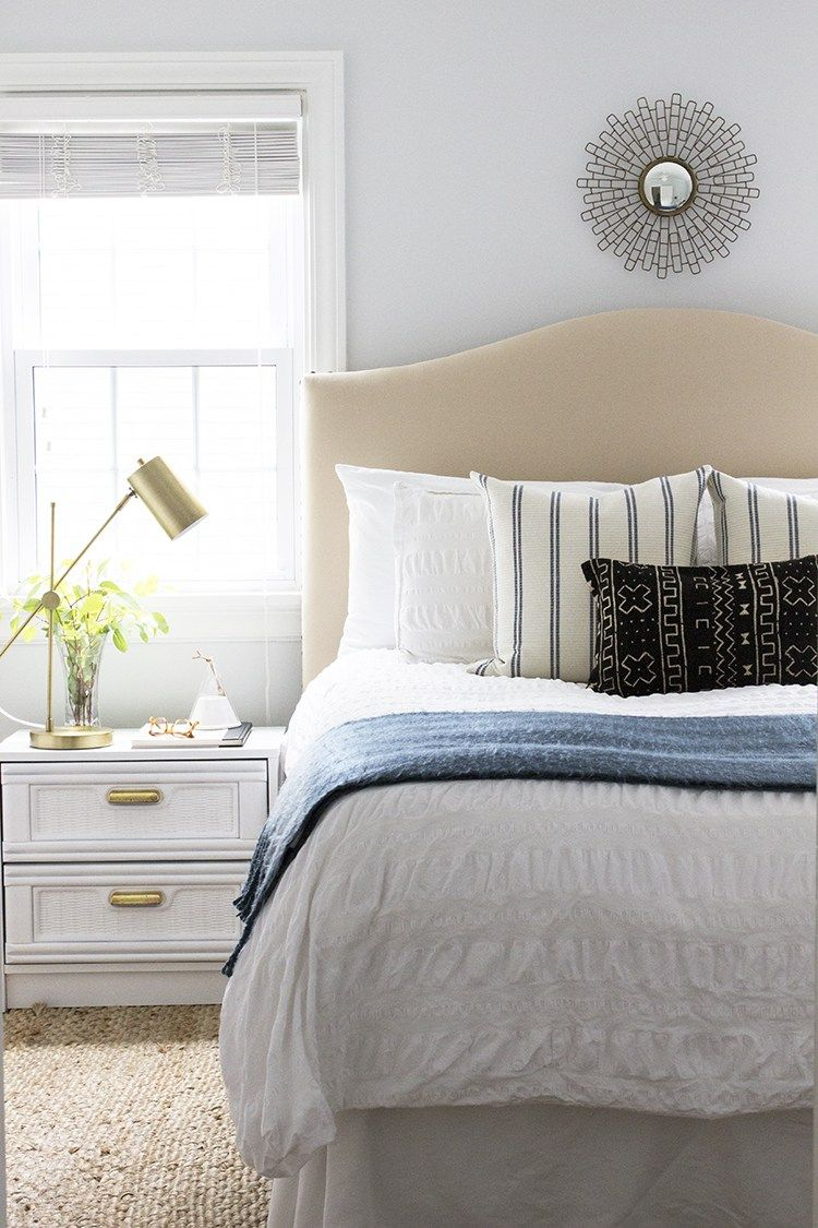 Upholstered Headboards Under 300 Guest room bed