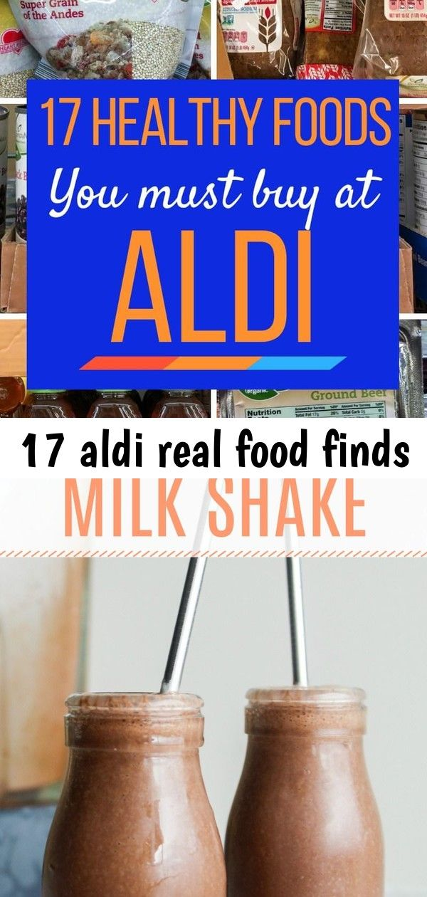 17 aldi real food finds #healthychocolateshakes