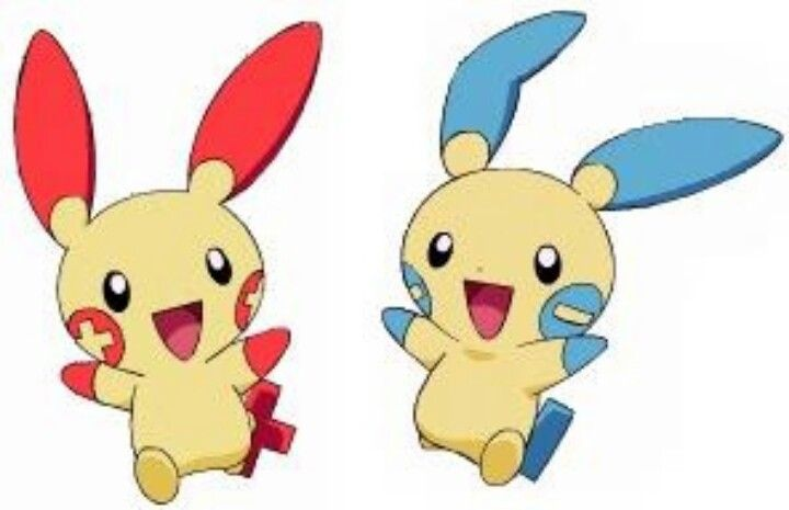 You have to love Plusle and Minum their too cute lol