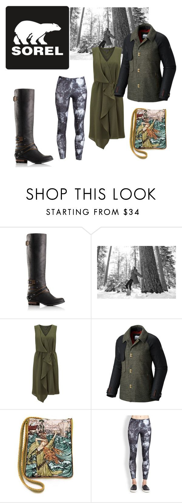 """Tame Winter with SOREL: Contest Entry"" by sabrina-fatma-ahmad ❤ liked on Polyvore featuring SOREL, Adrianna Papell, Zara Terez and sorelstyle"