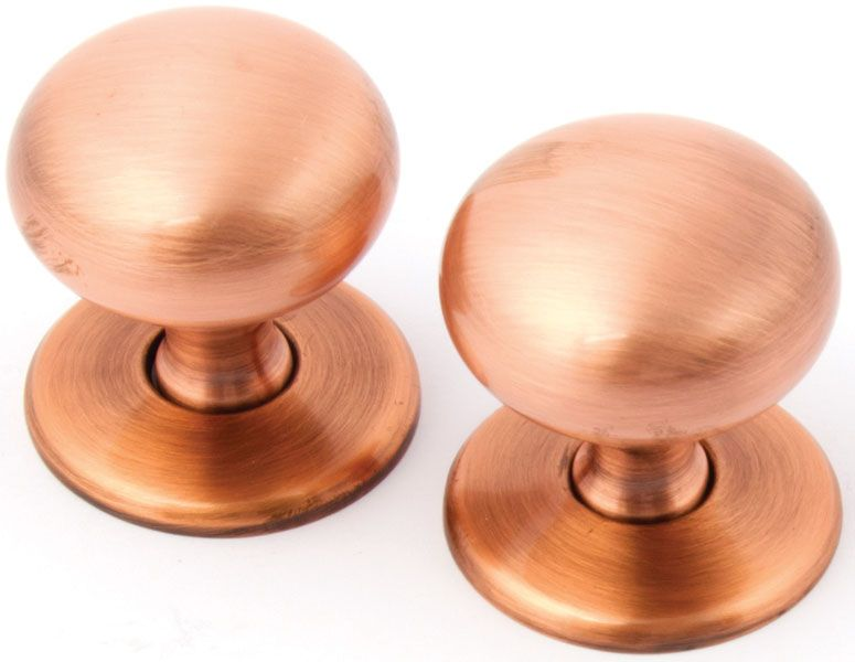 copper door knobs. hafele brushed copper contemporary round cabinet knobs with matching rose door