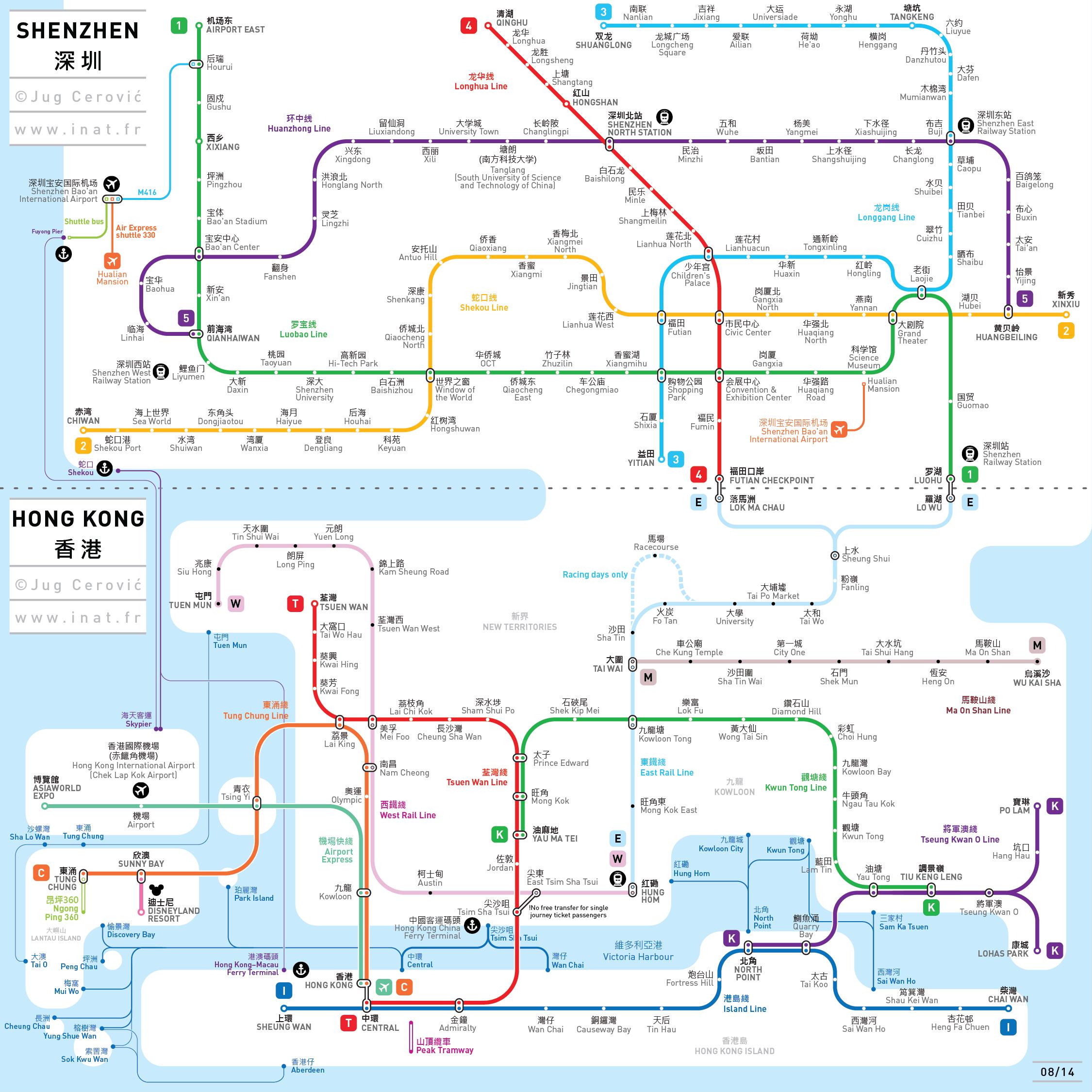 Metro Map Hk.Shenzen Hong Kong Metro Map Map Pinterest Train Map Subway