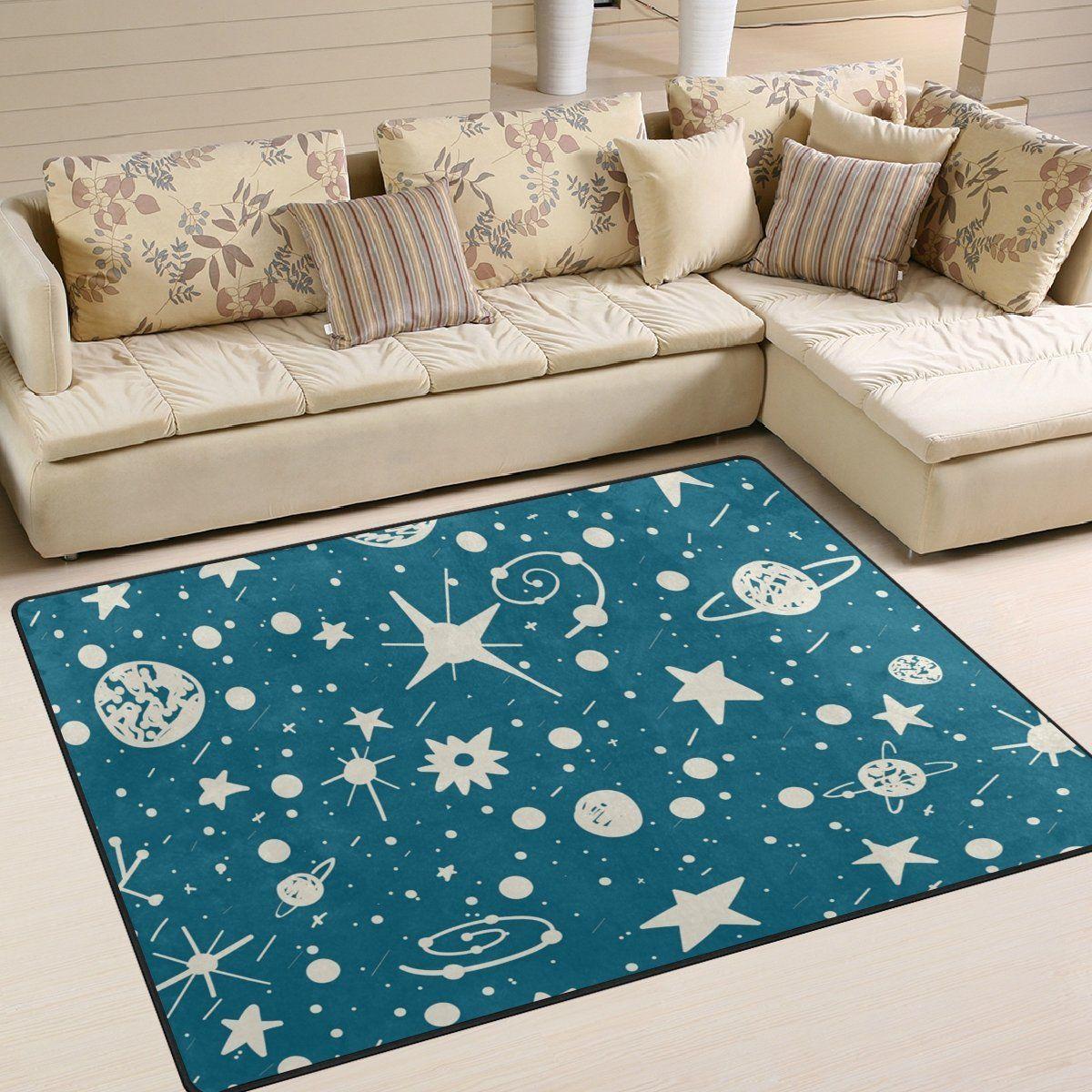 Teppich mit Sternen und Planeten - toll für ein Weltraum ...
