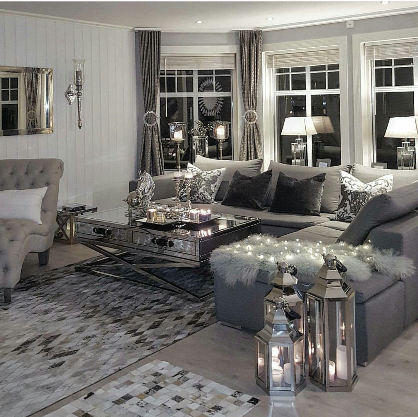 8 Gorgeous Rustic Living Room Ideas That Will Melt Your Heart With Warmth Glam Living Room Rustic Living Room Living Room Grey