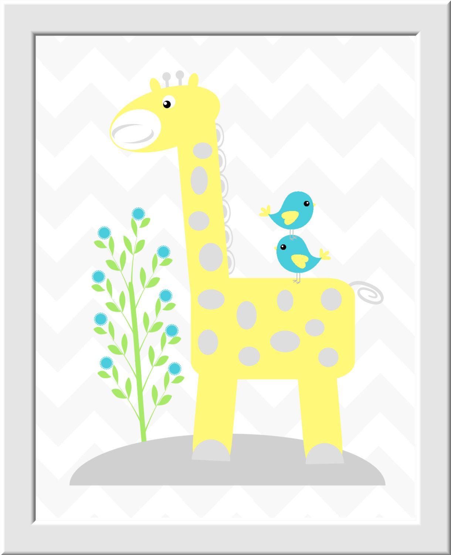 https://www.etsy.com/es/listing/248589033/baby-nursery-art-yellow ...