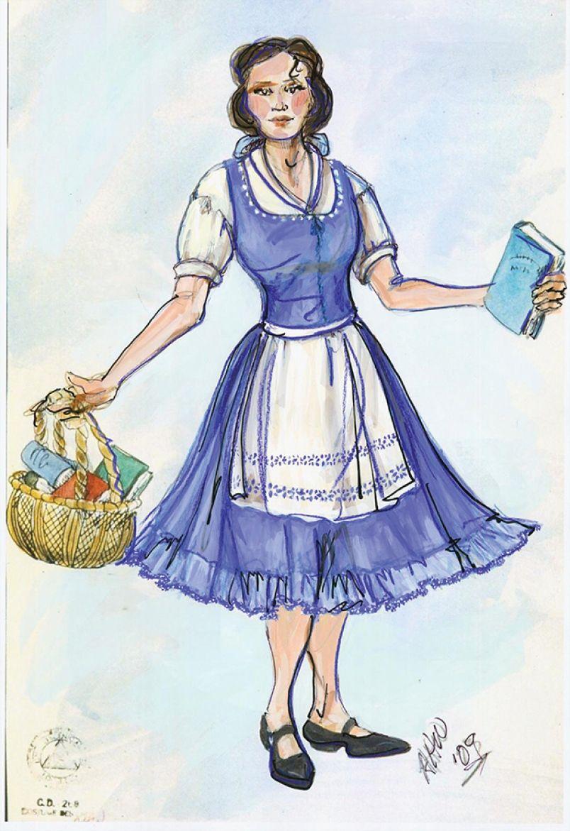 Belle Costume Sketch