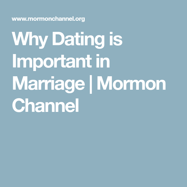 Why is dating important after marriage
