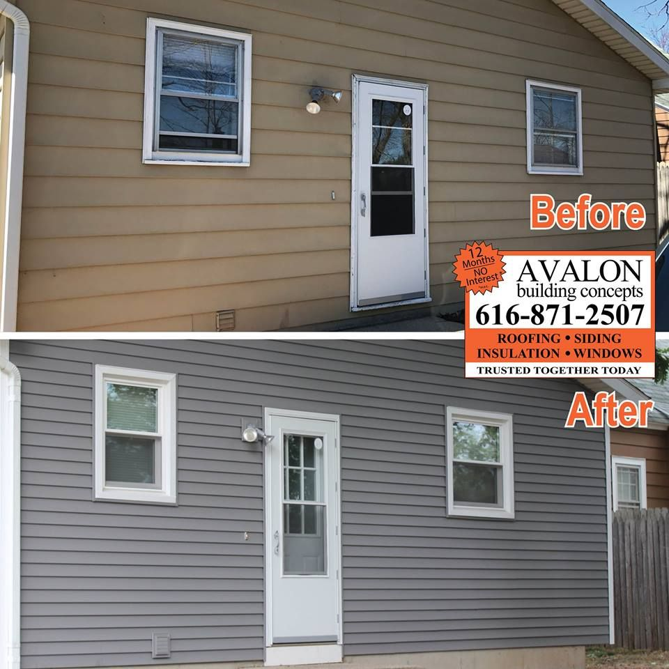 Avalon Building Concepts Update On Home With New Windows Doors And Siding Allow Homeowner