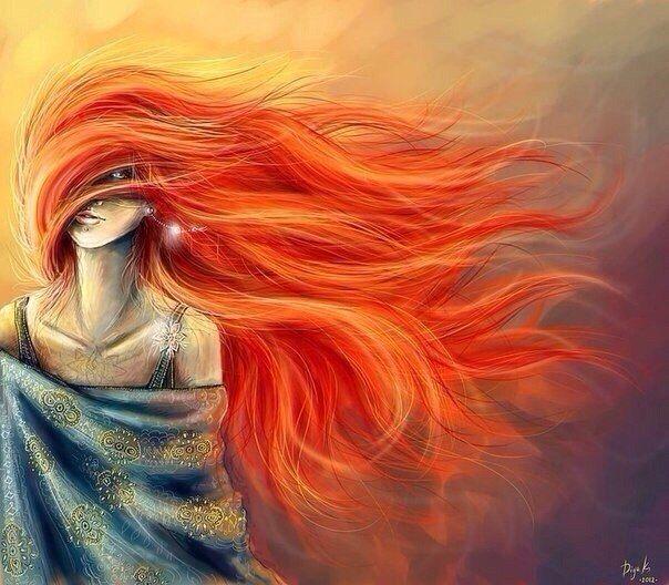 Рыжие рисованные девушки фото — img 12