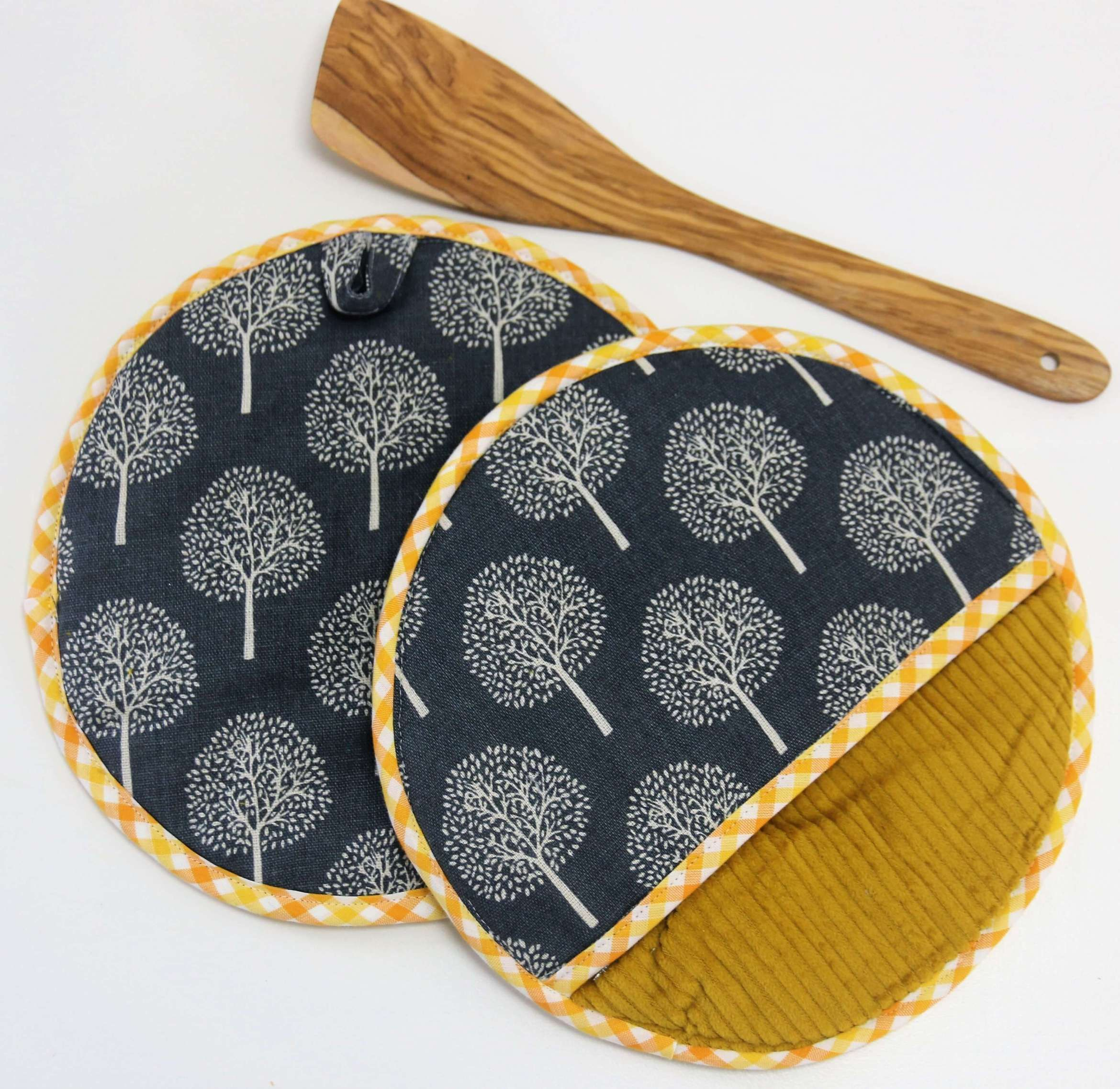 Potholders sew in 15 minutes: Free instructions