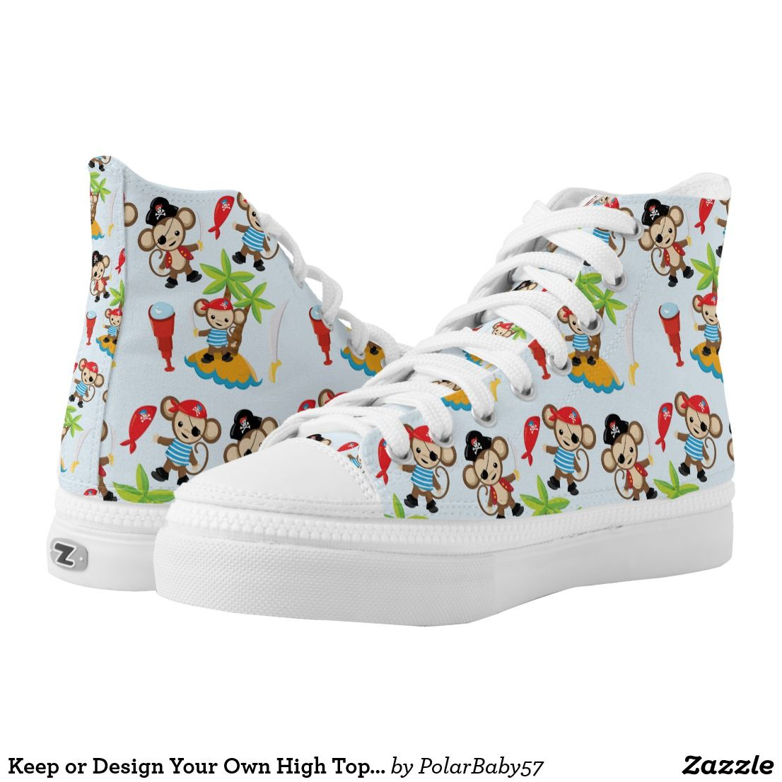 Keep or Design Your Own High Top Shoes | Zazzle.com (With ...
