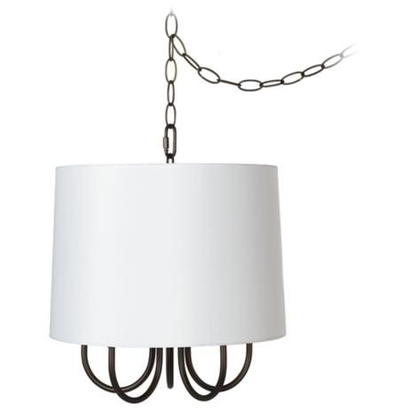 Wynwood 14 wide mini swag chandelier with white drum x9978 u8697 wynwood wide mini swag chandelier with white drum style aloadofball Images