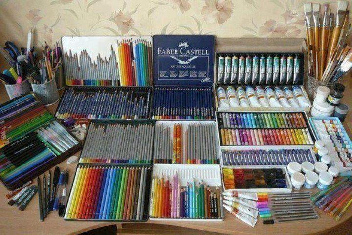 Quiero Todoooos Materiales De Arte Materiales De Dibujo Estudios De Arte
