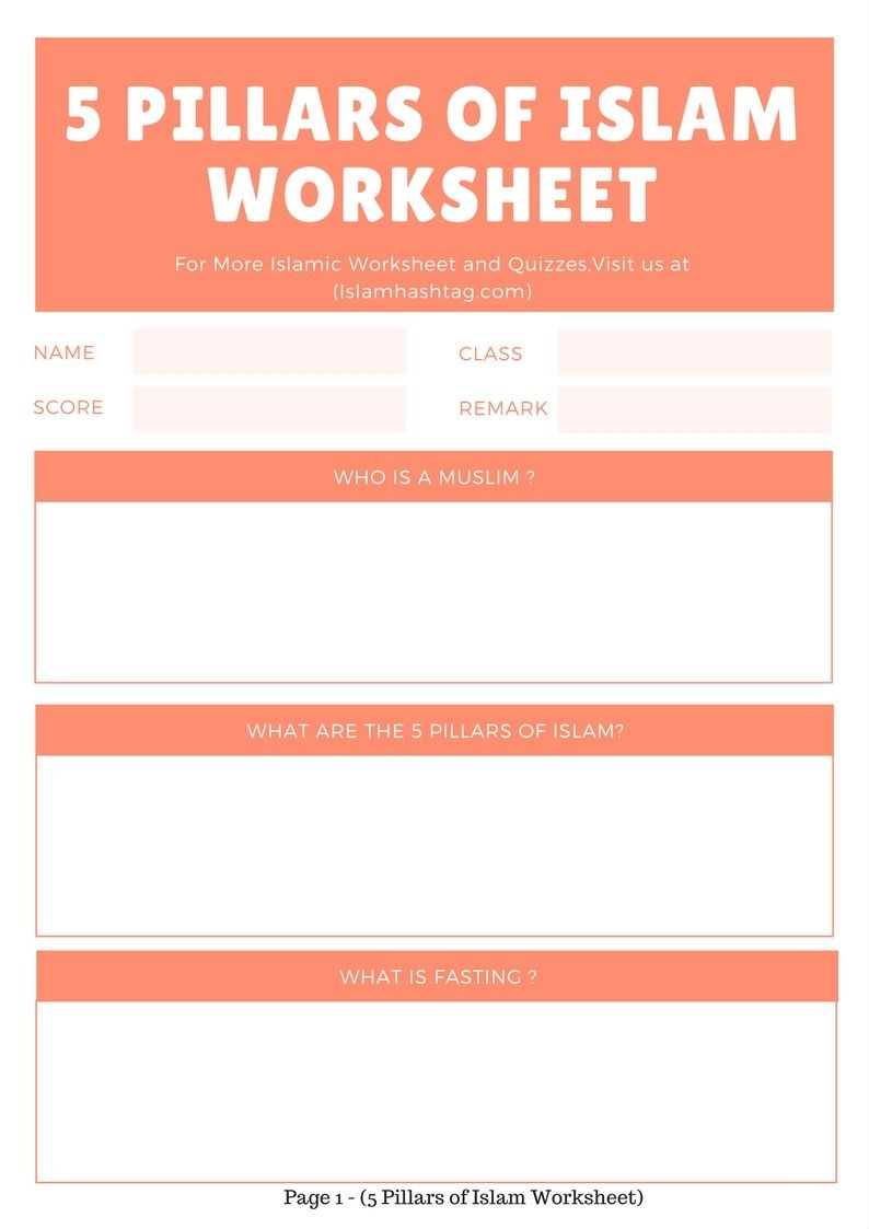 worksheet Five Pillars Of Islam Worksheet this 5 pillars of islam worksheet can be downloaded as pdf printed and used by