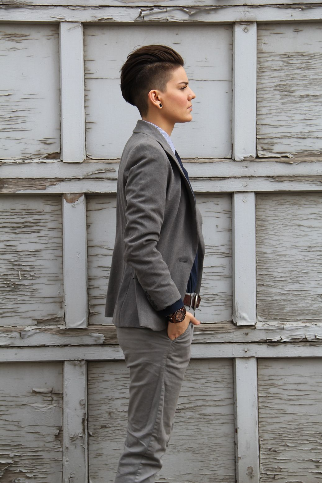 Alyssia Evans , Faded undercut Estilo Tomboy, Tomboy Haircut, Dapper  Haircut, Androgynous Haircut