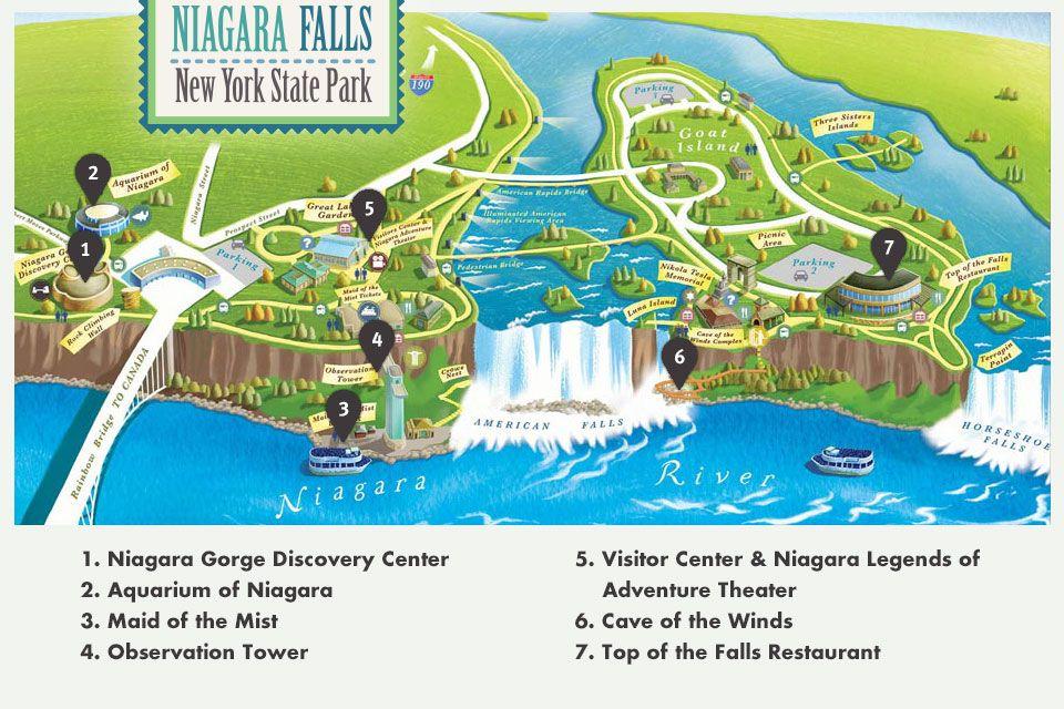 Map Of Niagara Falls Area Niagara Falls State Park Niagara