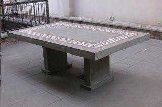 Muebles de cemento ligero, técnica especial y secreta (Argentina)