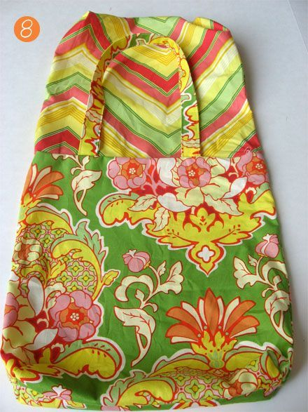 How to make a simple reversible totebag #sew #tote skiptomylou.org