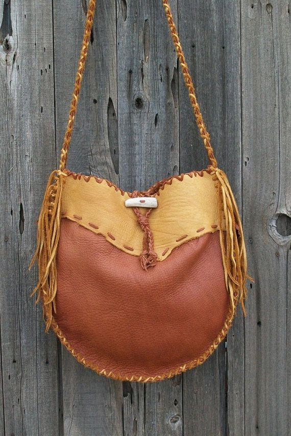 94618e2f611f6 Leather handbag Buckskin drum bag Gypsy tote by thunderrose This bag  measures 14