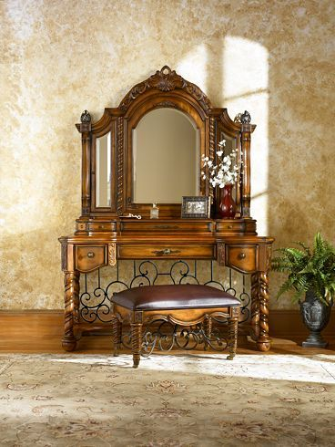 Bedroom Furniture Grand Tuscan Dresser Mirror Havertys Furniture