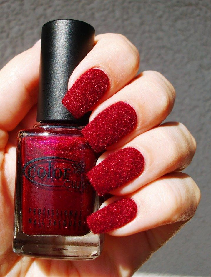 Red Velvet Nails | Nailed It | Velvet nails, Nails, Powder nails