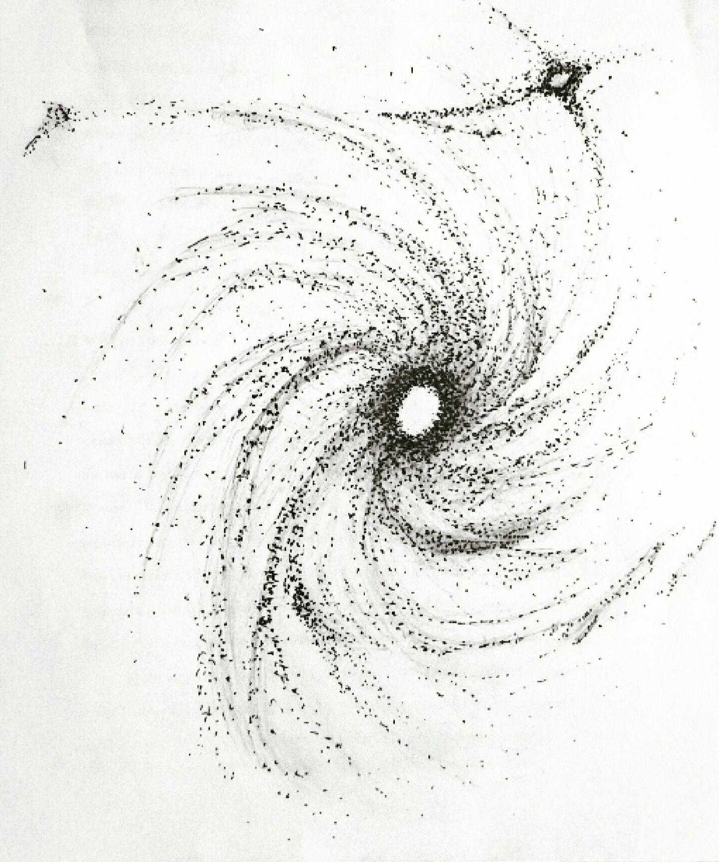 Art Sketch Space Galaxy Drawing Dotwork Tattoo Dotworktattoo Cosmos