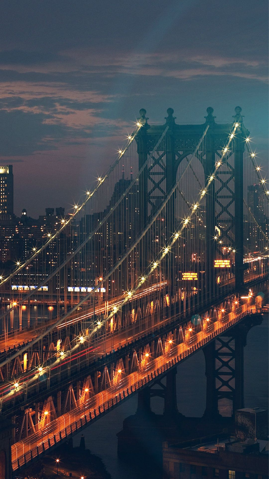 Bridge City River Flare Blue Night View Nature #iPhone #7 ...