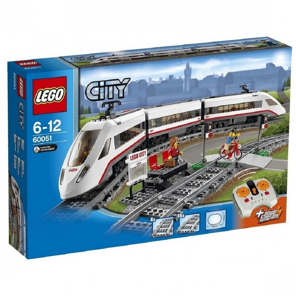 Lego City High Speed Passenger Train 60051 From Japan Lego Lego City Train Lego City Lego Trains